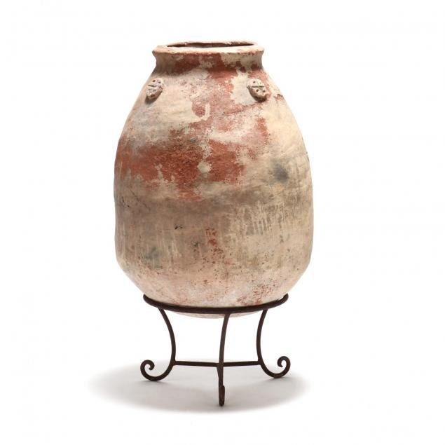 terra-cotta-olive-jar-on-stand