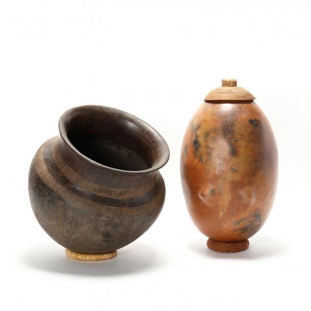 two-large-zulu-pottery-vessels