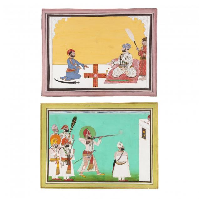 two-indian-miniature-court-paintings