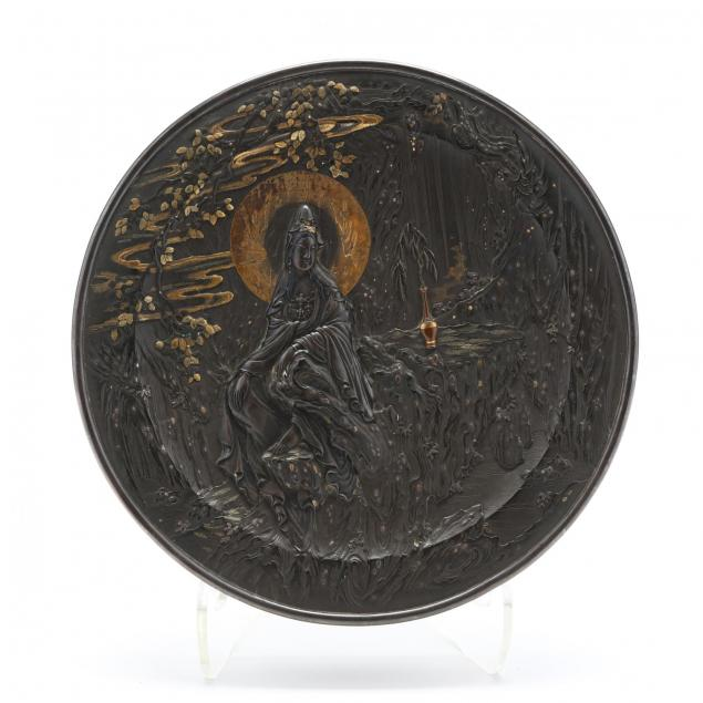 a-bronze-and-mixed-metals-circular-box-with-bodhisattva-of-compassion