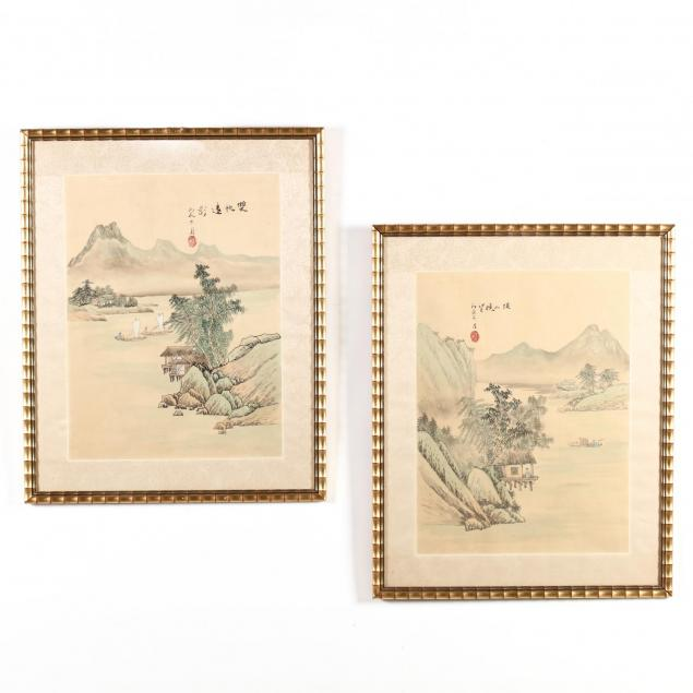 a-pair-of-chinese-landscape-paintings