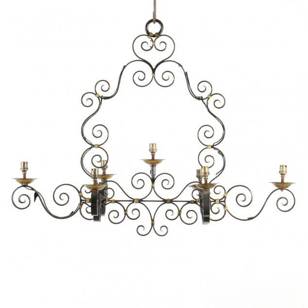 spanish-style-wrought-iron-chandelier