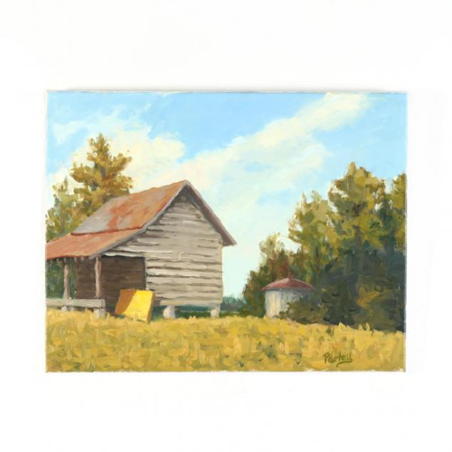 tim-postell-nc-landscape-with-outbuildings