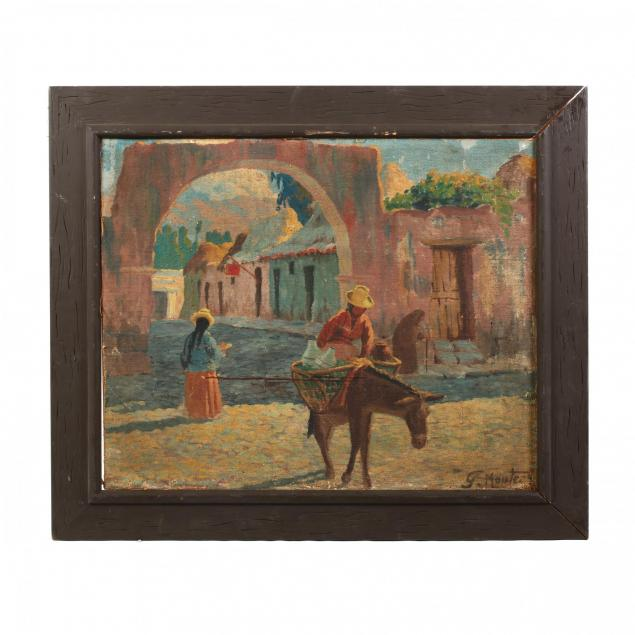vintage-mexican-painting-of-a-figure-going-to-market