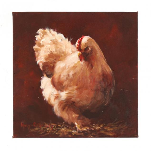 mary-o-malley-american-20th-21st-c-portrait-of-a-brahma-chicken