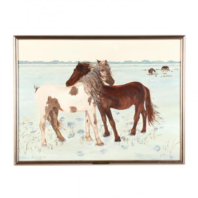 charlotte-russell-rodman-nc-wild-horses-in-winter