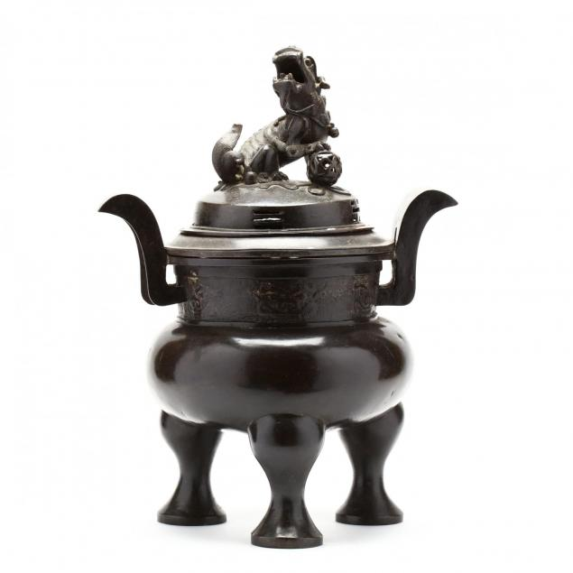 a-large-heavy-bronze-chinese-covered-censer