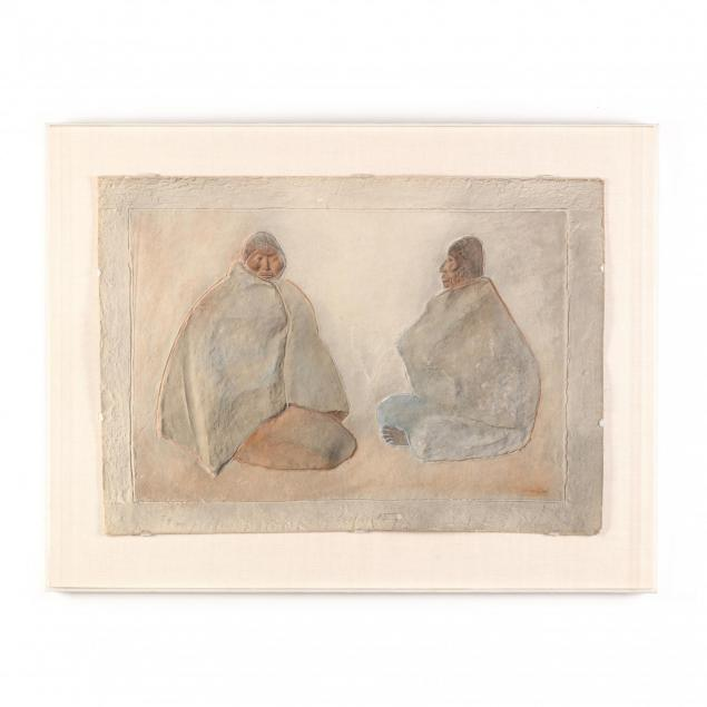 francisco-zuniga-mexican-1912-1998-embossed-print-with-two-seated-figures