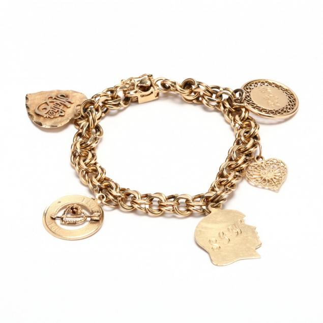 14kt-gold-charm-bracelet-with-charms