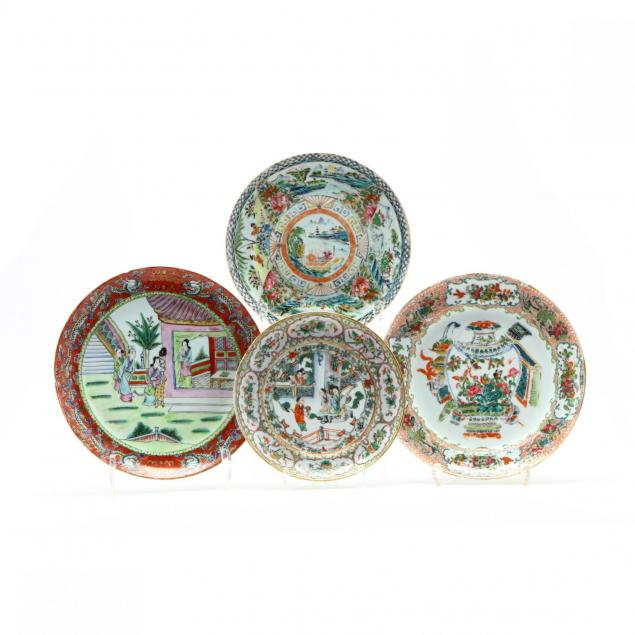 a-group-of-four-chinese-export-porcelain-plates