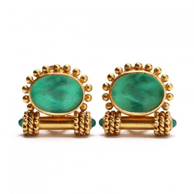 18kt-gold-venetian-glass-and-mother-of-pearl-earrings-elizabeth-locke