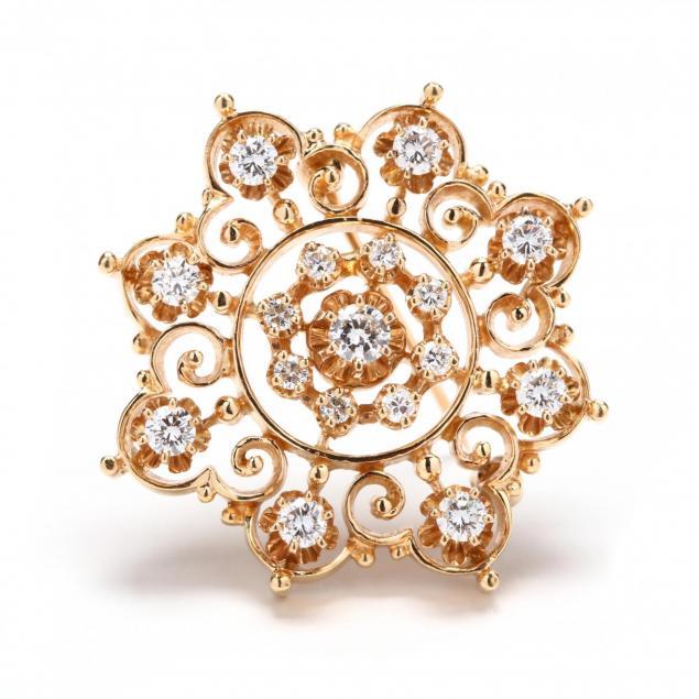 14kt-gold-and-diamond-brooch-pendant-kurt-goldschmidt