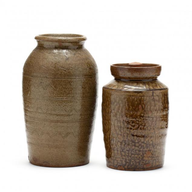 two-western-nc-pottery-storage-jars