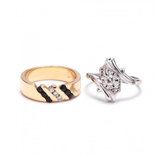 two-14kt-gem-set-rings