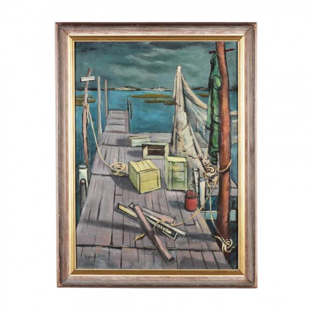 claude-howell-nc-1915-1997-i-fisherman-s-pier-i
