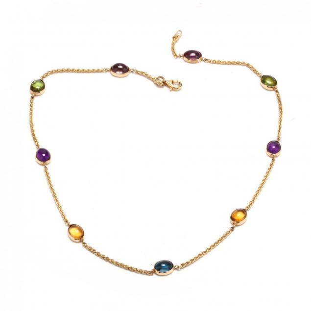 18kt-gold-multi-gemstone-necklace