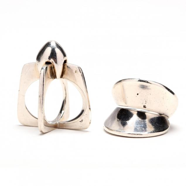 a-georg-jensen-sterling-ring-and-a-modernist-ring