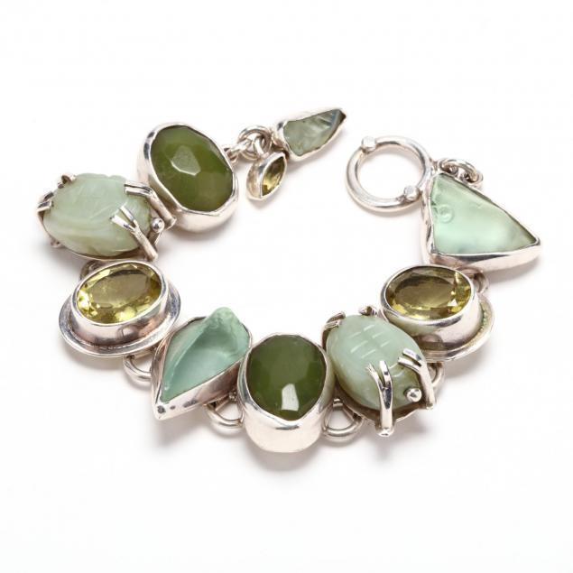 sterling-silver-multi-gemstone-bracelet
