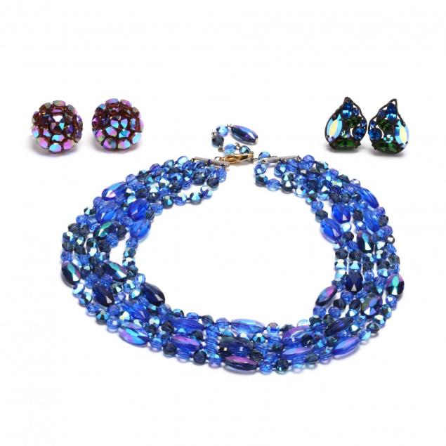 vintage-bead-necklace-and-two-pairs-of-earrings