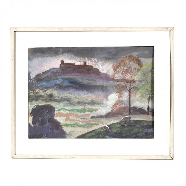 james-augustus-mclean-nc-1904-1989-i-scene-from-western-blvd-catholic-orphanage-in-distance-i