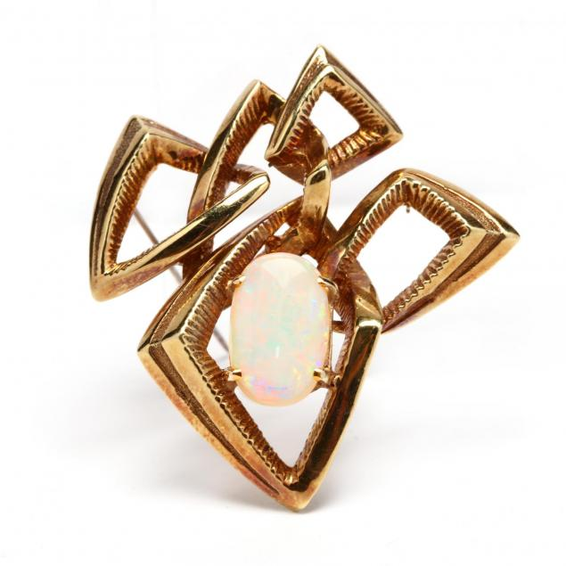 18kt-gold-and-opal-brooch-signed