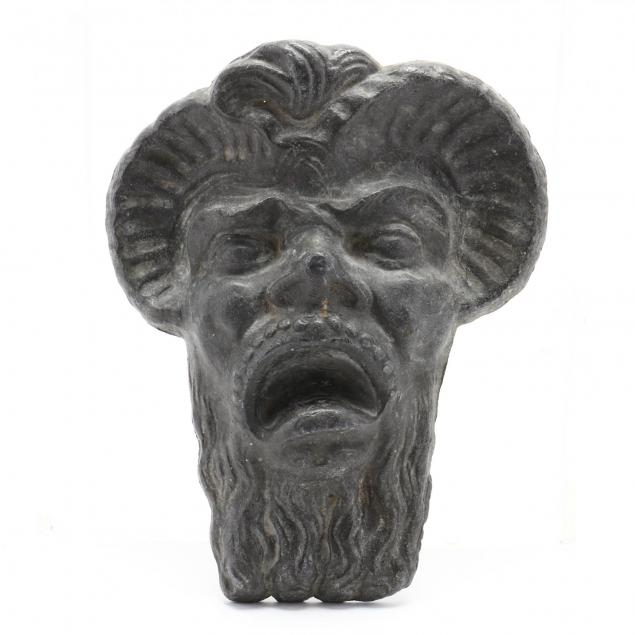 an-antique-lead-garden-mask