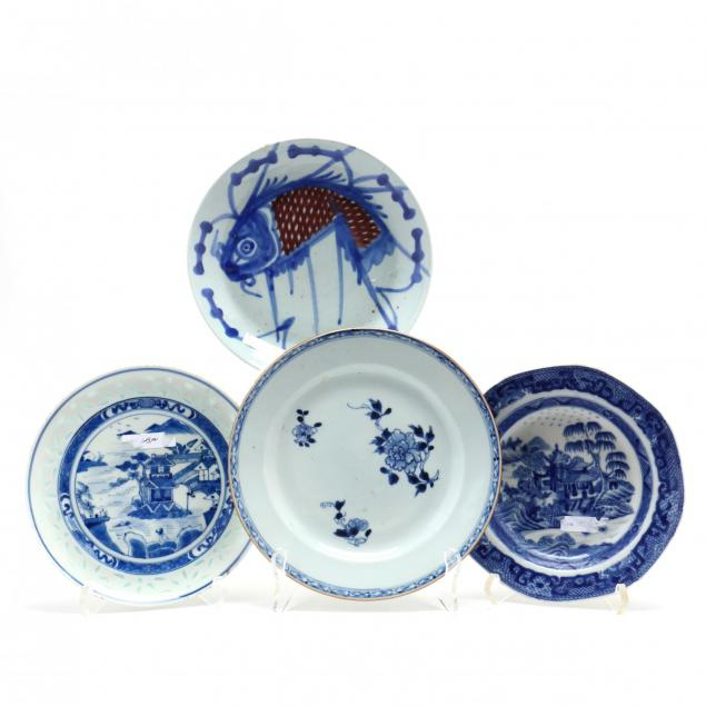 four-chinese-export-porcelain-plates