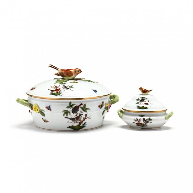 herend-two-lidded-rothschild-bird-dishes