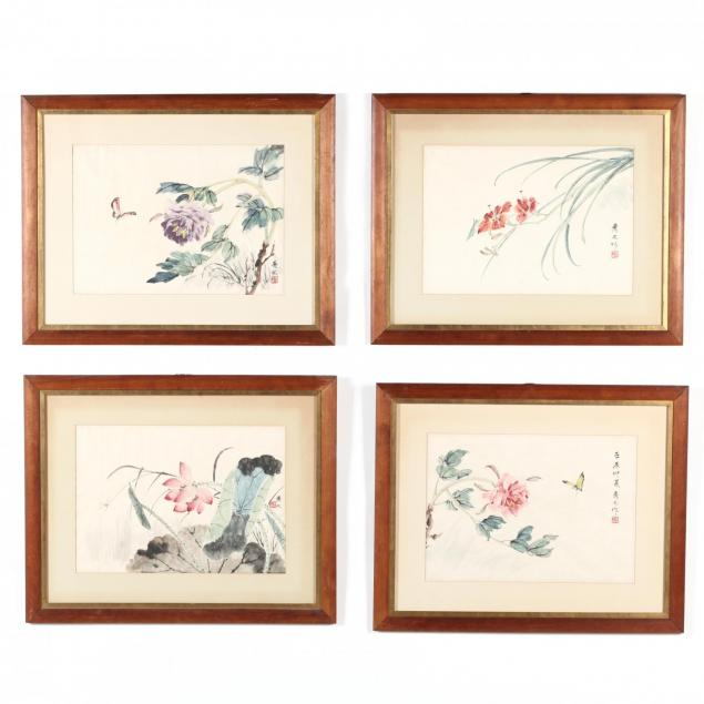 a-suite-of-four-chinese-watercolor-and-ink-paintings