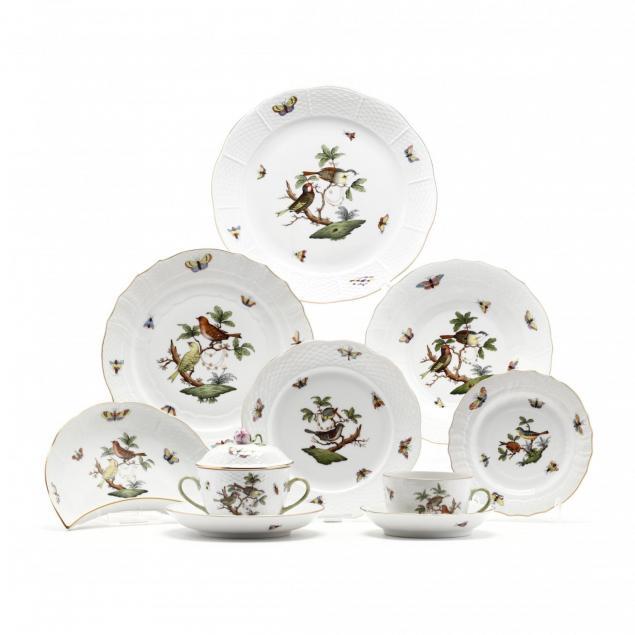 herend-rothschild-bird-porcelain-dinner-service