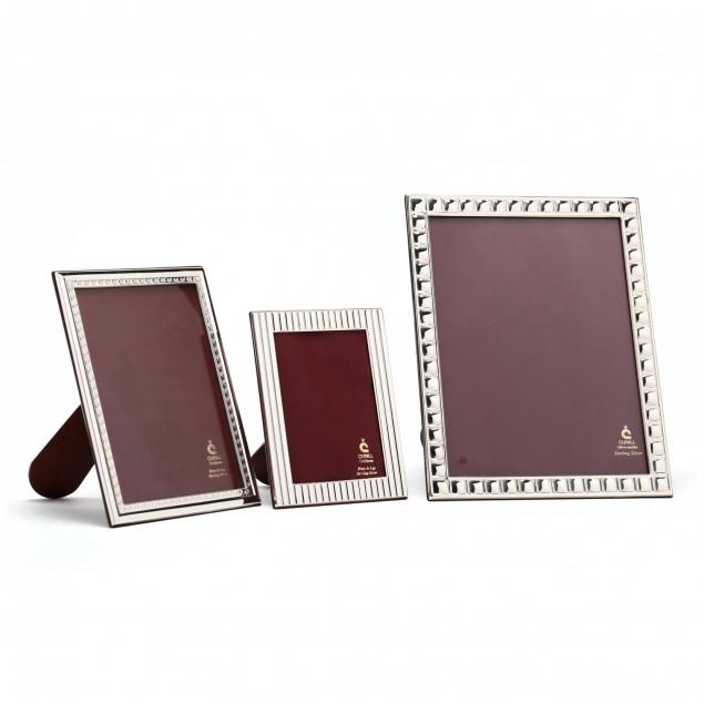 three-cunill-silversmiths-sterling-silver-picture-frames