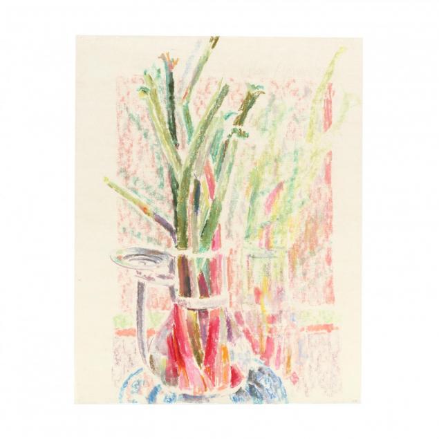 hobson-pittman-nc-pa-1899-1972-i-walter-s-rhubarb-in-glass-pitcher-i