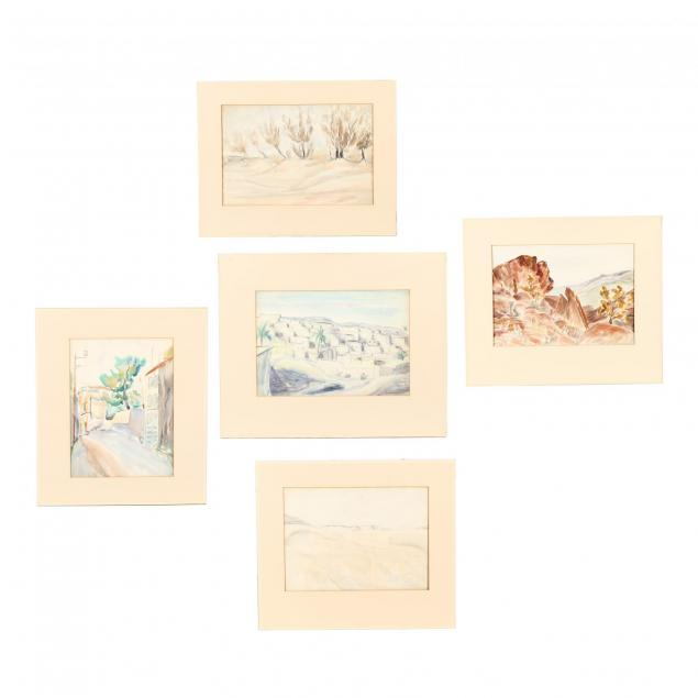cyril-kay-scott-american-1871-1960-five-watercolor-landscapes