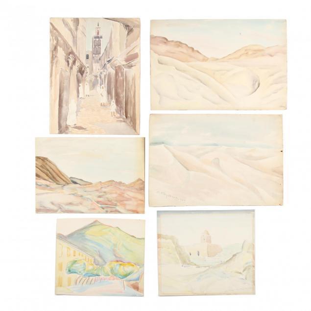 cyril-kay-scott-american-1871-1960-six-watercolors