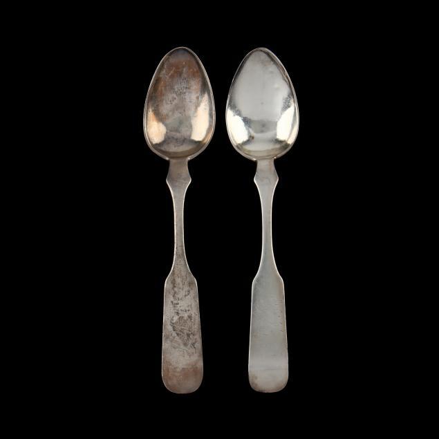 a-pair-of-north-carolina-coin-silver-teaspoons-mark-of-traugott-linebach