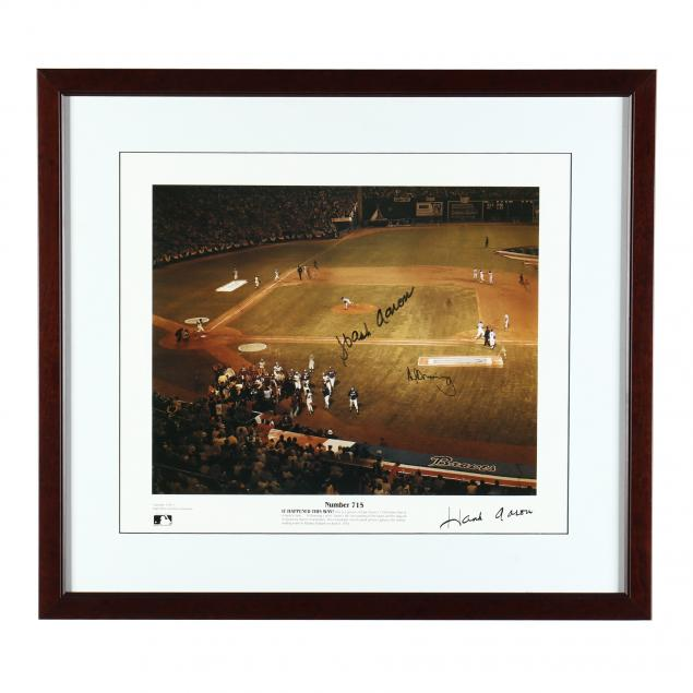 hank-aaron-and-al-downing-autographed-photograph