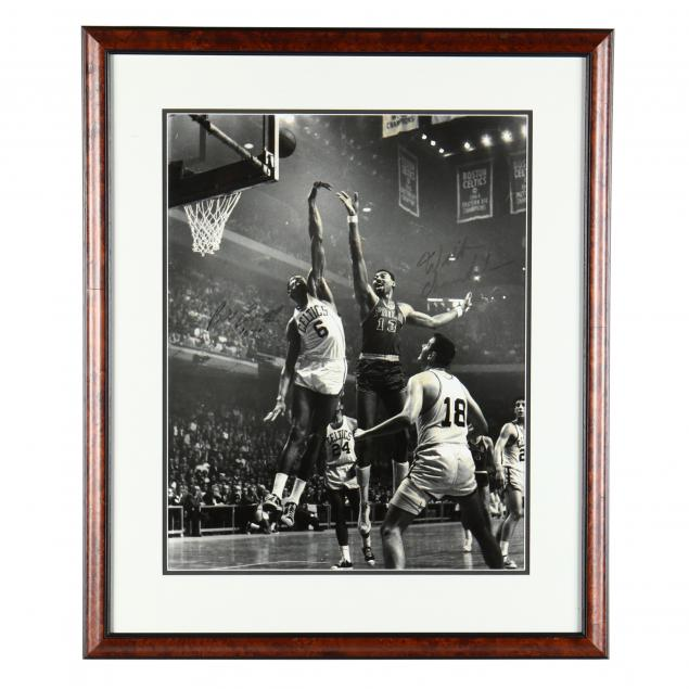 wilt-chamberlain-and-bill-russell-signed-photograph