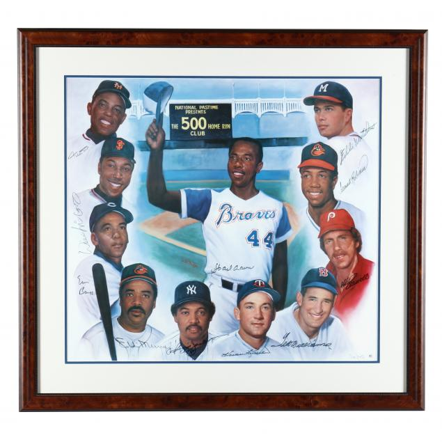 the-500-home-run-club-autographed-baseball-print