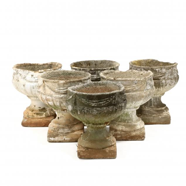 set-of-six-vintage-cast-stone-garden-urns