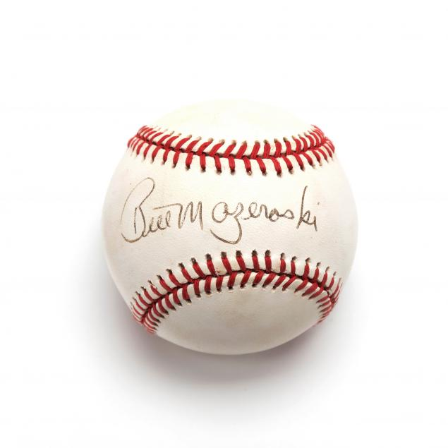 bill-mazeroski-autographed-baseball