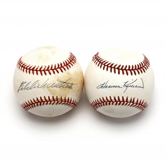 eddie-mathews-autographed-baseball