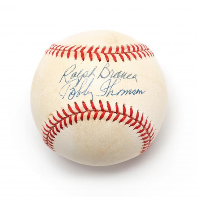 ralph-branca-and-bobby-thomson-autographed-baseball