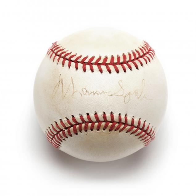 warren-spahn-autographed-baseball