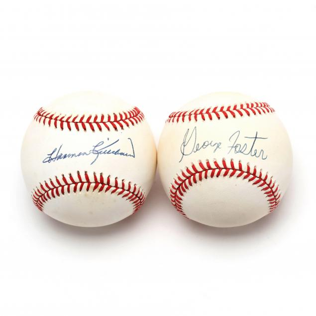 two-autographed-baseballs-george-foster-and-harmon-killebrew