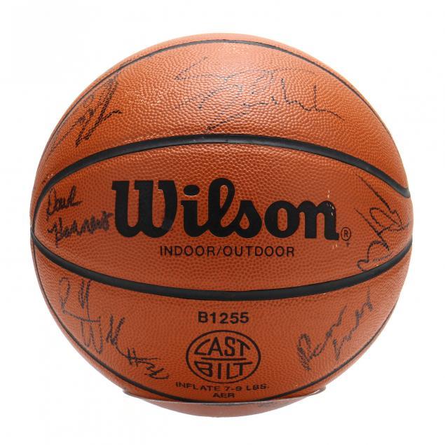 unc-team-signed-basketball-1993-94-season