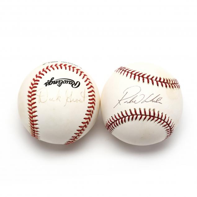 two-autographed-baseballs-rondell-white-and-dick-groat