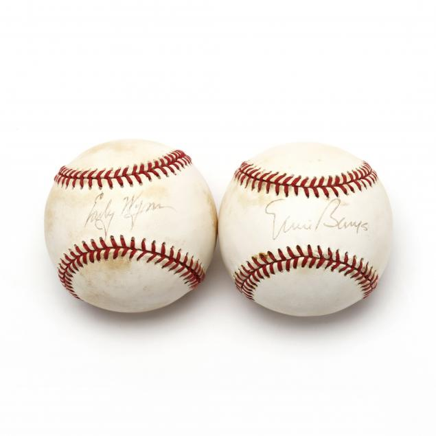 two-autographed-baseballs-ernie-banks-and-early-wynn