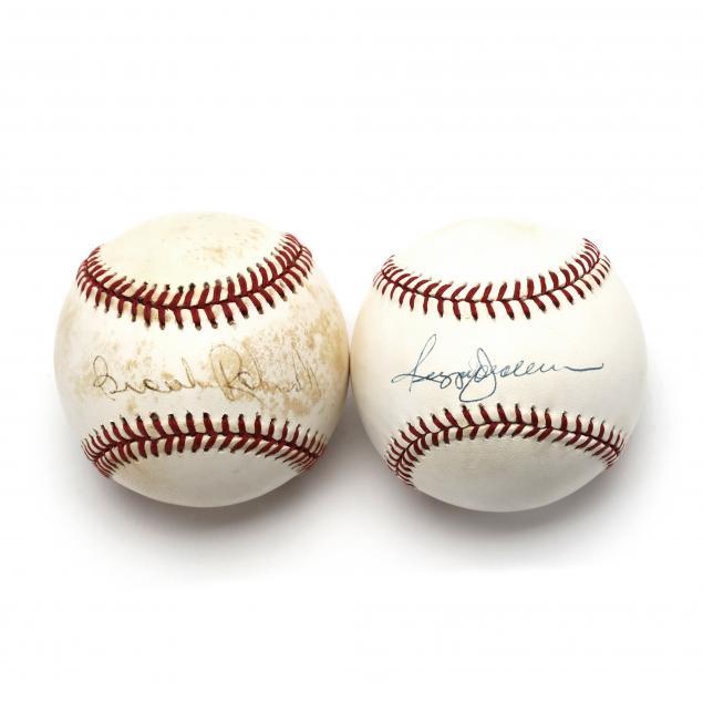 two-autographed-baseballs-brooks-robinson-and-reggie-jackson