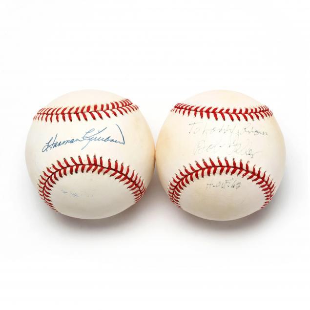 two-autographed-baseballs-bob-feller-and-harmon-killebrew