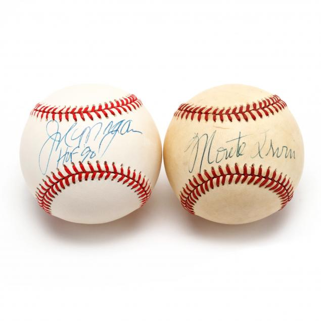 two-autographed-baseballs-monte-irvin-and-joe-morgan